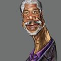 Morgan Freeman by Mentor Berisha