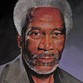 Morgan Freeman Portrait by Bill Dunkley