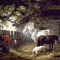 Morland: Farmyard, 1792 by Granger