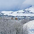 Mormon Tabernacle In Snow II by Marilyn Hunt