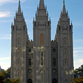 Mormon Temple Fall by David Lee Thompson