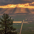 Morning Angel Lights Over The Valley by Mike Herron