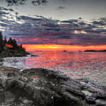 Morning Arrives At Isle Royale by Don Mercer