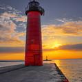 Morning At The Kenosha Lighthouse by Dale Kauzlaric