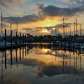 Morning At The Marina by David Thompson