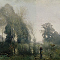 Morning At Ville Davray by Jean Baptiste Camille Corot
