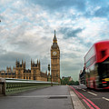 Morning Bus In London by James Udall