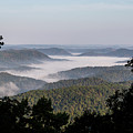 Morning Fog On Pine Mountain by Cris Ritchie