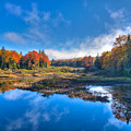 Morning Fog On The Moose River by David Patterson
