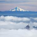 Morning Fog Over Portland by Bruce Block