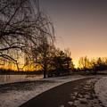 Morning Glow Along Hoyt Lake by Chris Bordeleau