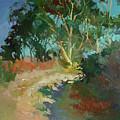 Morning Has Broken  -  Plein Air Catalina Island by Betty Jean Billups