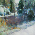 Morning In Colorado Landscape Art By Jai Johnson by Jai Johnson