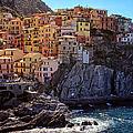 Morning In Manarola Cinque Terre Italy by Joan Carroll