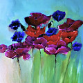 Morning Light Poppies Painting by Lisa Kaiser