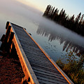 Morning Mist Over Lynx Lake In Northern Saskatchewan by Mark Duffy