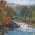 Morning Muse - Original Contemporary Impressionist River Painting by Quin Sweetman