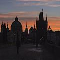 Morning On Charles Bridge by Lasse Ansaharju