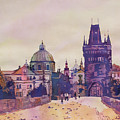 Morning On The St. Charles Bridge by Jenny Armitage