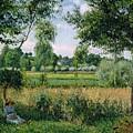 Morning Sunlight Effect, Eragny by Camille Pissarro