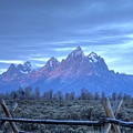 Morning Sunrise In The Tetons by Dennis Blum