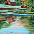 Morning Swim by Lorraine Vatcher