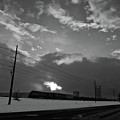Morning Train In Black And White by Scott Sawyer