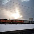 Morning Train by Scott Sawyer
