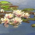 Morning Water Lilies by Gary Bruton