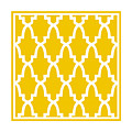 Moroccan Arch With Border In Mustard by Custom Home Fashions