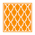 Moroccan Arch With Border In Tangerine by Custom Home Fashions