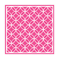 Moroccan Endless Circles I With Border In French Pink by Custom Home Fashions