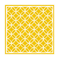 Moroccan Endless Circles I With Border In Mustard by Custom Home Fashions