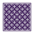 Moroccan Endless Circles I With Border In Purple by Custom Home Fashions