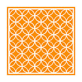 Moroccan Endless Circles I With Border In Tangerine by Custom Home Fashions