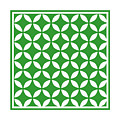 Moroccan Endless Circles II With Border In Dublin Green by Custom Home Fashions