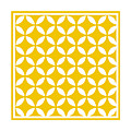 Moroccan Endless Circles II With Border In Mustard by Custom Home Fashions