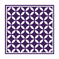 Moroccan Endless Circles II With Border In Purple by Custom Home Fashions