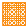 Moroccan Endless Circles II With Border In Tangerine by Custom Home Fashions