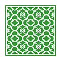 Moroccan Floral Inspired With Border In Dublin Green by Custom Home Fashions