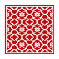Moroccan Floral Inspired With Border In Red by Custom Home Fashions