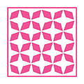 Moroccan Inlay With Border In French Pink by Custom Home Fashions