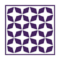 Moroccan Inlay With Border In Purple by Custom Home Fashions