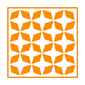 Moroccan Inlay With Border In Tangerine by Custom Home Fashions