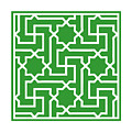 Moroccan Key With Border In Dublin Green by Custom Home Fashions