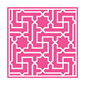Moroccan Key With Border In French Pink by Custom Home Fashions