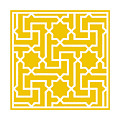 Moroccan Key With Border In Mustard by Custom Home Fashions