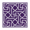 Moroccan Key With Border In Purple by Custom Home Fashions