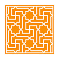 Moroccan Key With Border In Tangerine by Custom Home Fashions