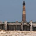 Morris Island Lighthouse Sea Wall by Dale Powell